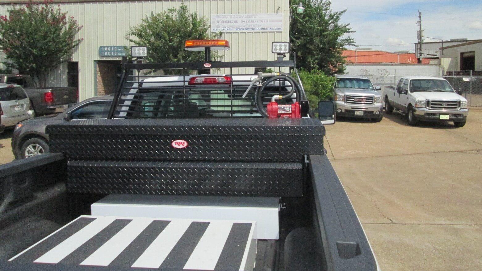 Pickup Van Southwest Truck Rigging Chevy Headache Rack 2500 With Pack Rat Work Lights Strobe Light Fuel